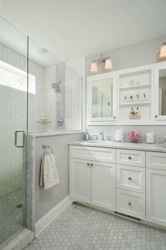 Bathroom Floor Tile Ideas Hexagon Marble Tiles QCIFJSW