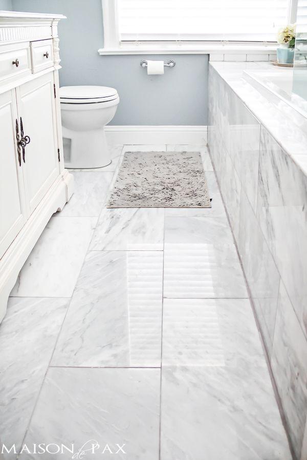 Bathroom Floor Tile Ideas I love this bathroom!  beautiful surfaces and brilliant ideas for space-saving EANDWYM