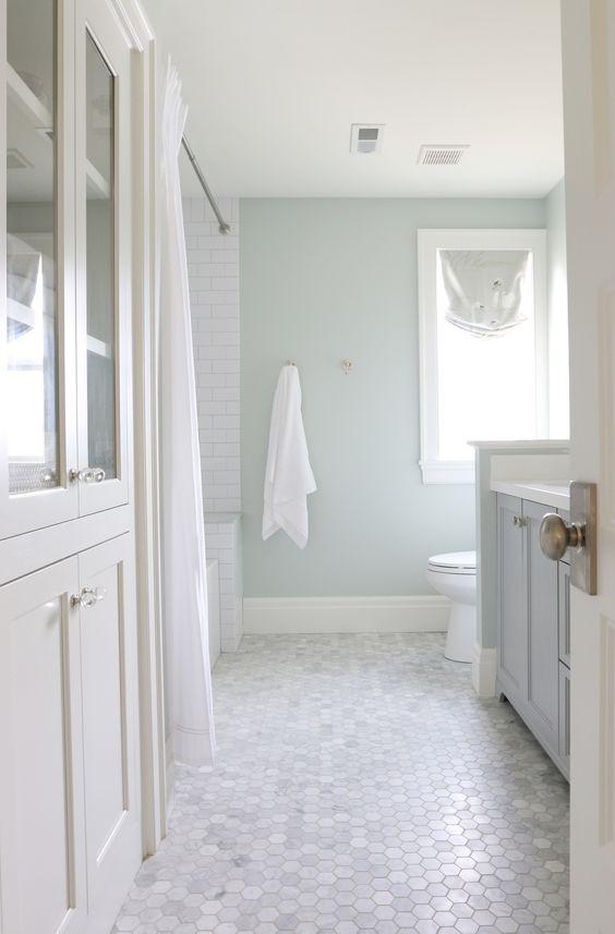 Bathroom floor tile ideas octagonal marble TRLTCUN