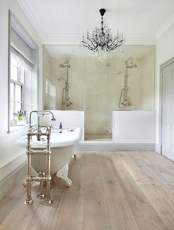 Bathroom floor tile ideas from wood inspired tiles CRXINTY