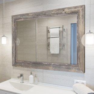 Bathroom mirror seaside mirror with beveled accent PBLUMJR