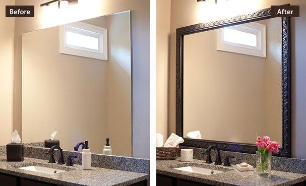 Bathroom mirror custom diy bathroom mirror frame kits IBFSMWX
