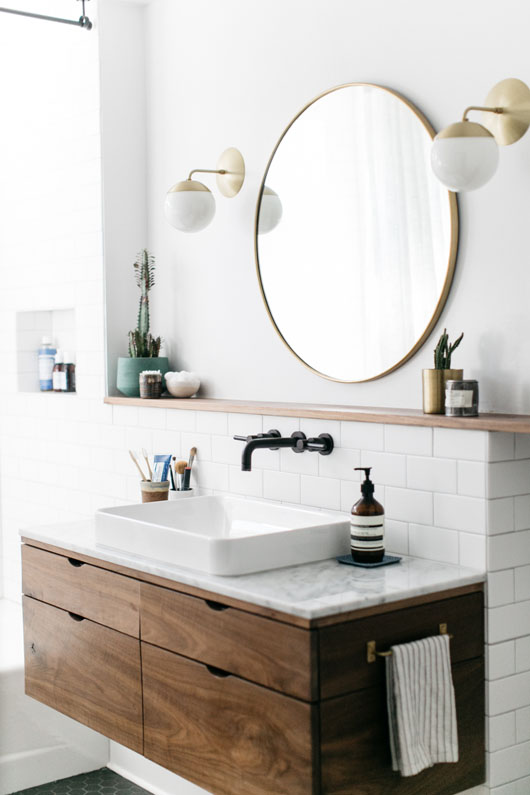 Bathroom mirror (Image credit: sf girl by bay) IMVALUP