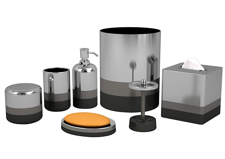 Bathroom sets amazon.com: nu Steel Triune bathroom accessories set, 7 pieces: home & kitchen VVVAFUD