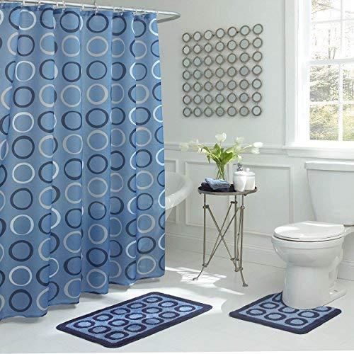 Bathroom sets Bath Fusion Terrell 15-piece light blue bathroom shower set OSZLGZN
