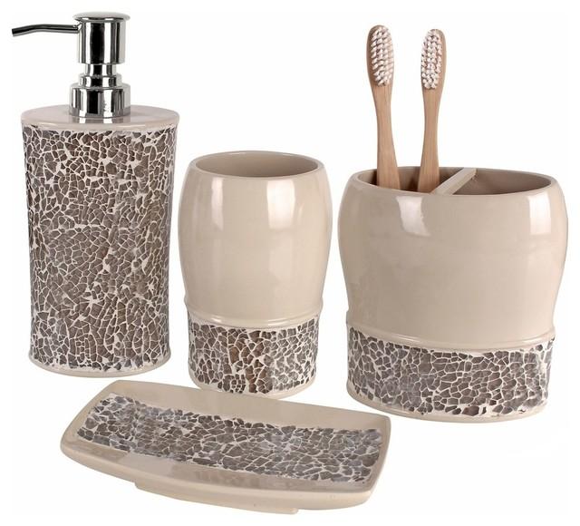 Bathroom sets Broccostella 4-piece bathroom accessory set SDAQOUQ