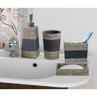 Bathroom sets Loeffler Rustic Stone 4-piece bathroom accessory set WCVEUVU