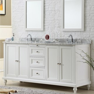 Washbasin cabinets Washbasin 70-inch classic pearl white double vanity unit RLQUUTR
