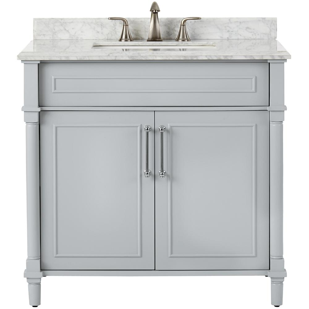 Marble Top Sink Cabinets Home Decorators Collection Aberdeen 36