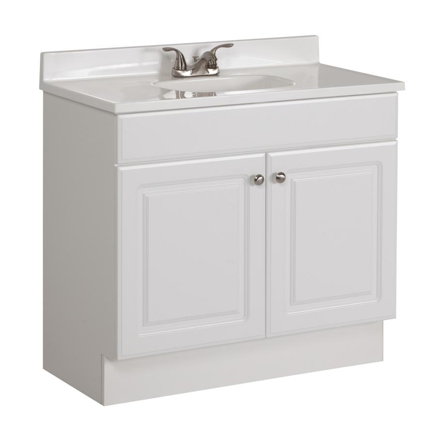 Washbasin cabinets for bathrooms with marble top project source white single washbasin with white marble top SMIEIBJ