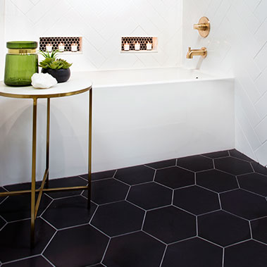Bathroom tile designs hexagonal bathroom tile FVEPIZA