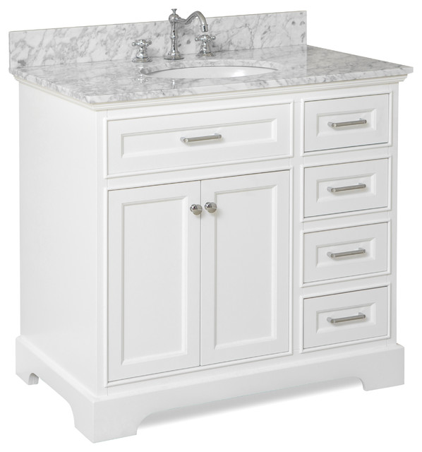 Bathroom washbasins aria bathtub washbasin, white, Carrara marble, 36 OVHYOQP