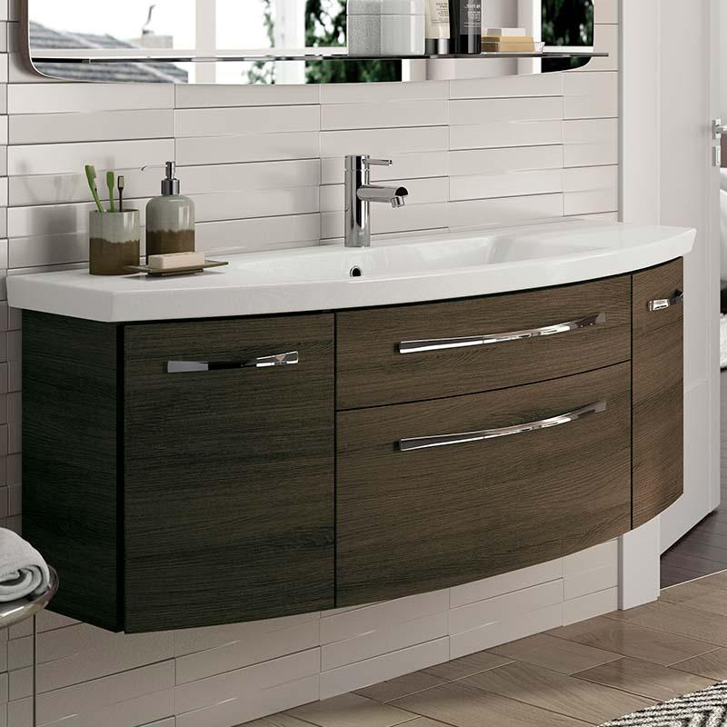 Vanity units 6001 Solitaire vanity unit 2 drawers 2 doors 1290 - 175382 XMQUPSW