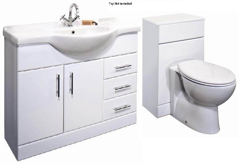Bathroom vanity units Premier Classic 1050mm bathroom vanity unit & toilet unit btw toilet 1550mm WGOURUZ