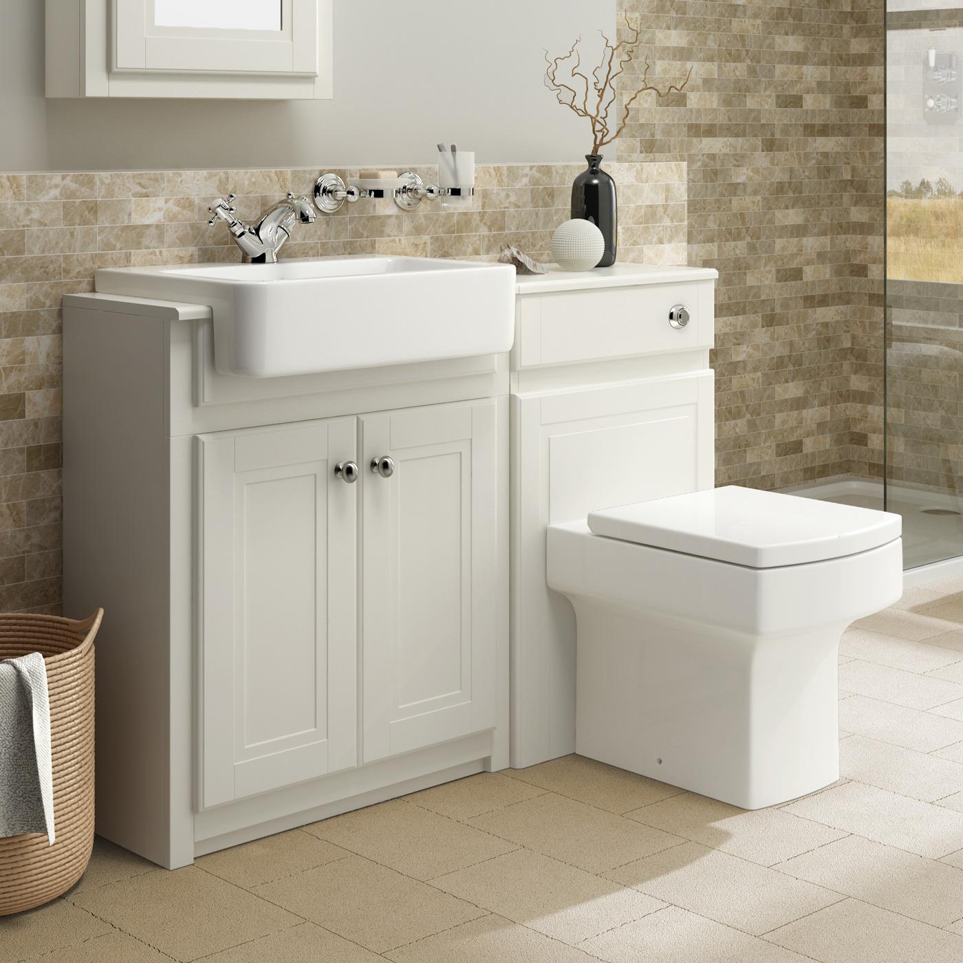 Bathroom vanity units Traditional vanity unit Washbasin Washbasin Wall-mounted toilet LSKTDOJ