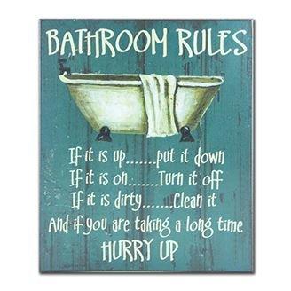 Bathroom wall art bathroom rules text art DYCALVY
