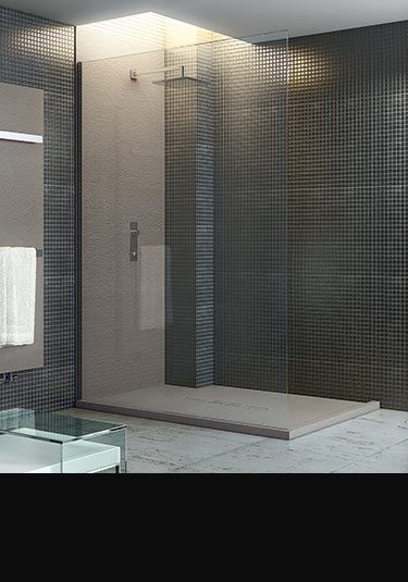 Bathroom wall panels 1-sided waterproof shower wall panels ... QWFRIND