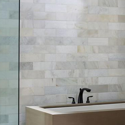Bathroom wall tiles Large wall tiles create the impression that rooms are larger than they are UHPBBCL