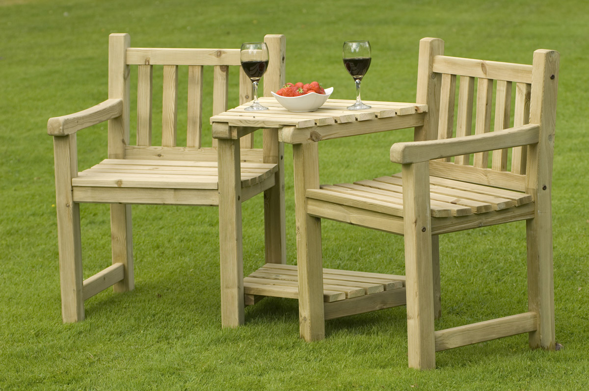 Be close to nature with wooden patio furniture BHFDJMK