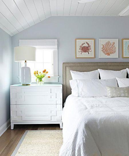 Gorgeous beach bedroom decor idea