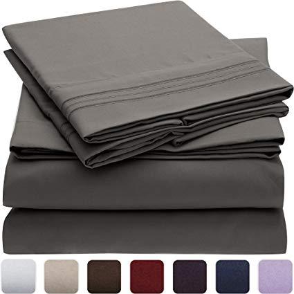 Bedding Mellanni Bedding Set - Brushed 1800 Microfiber Bed Linen - Wrinkle, Fade, ZOYFTKJ