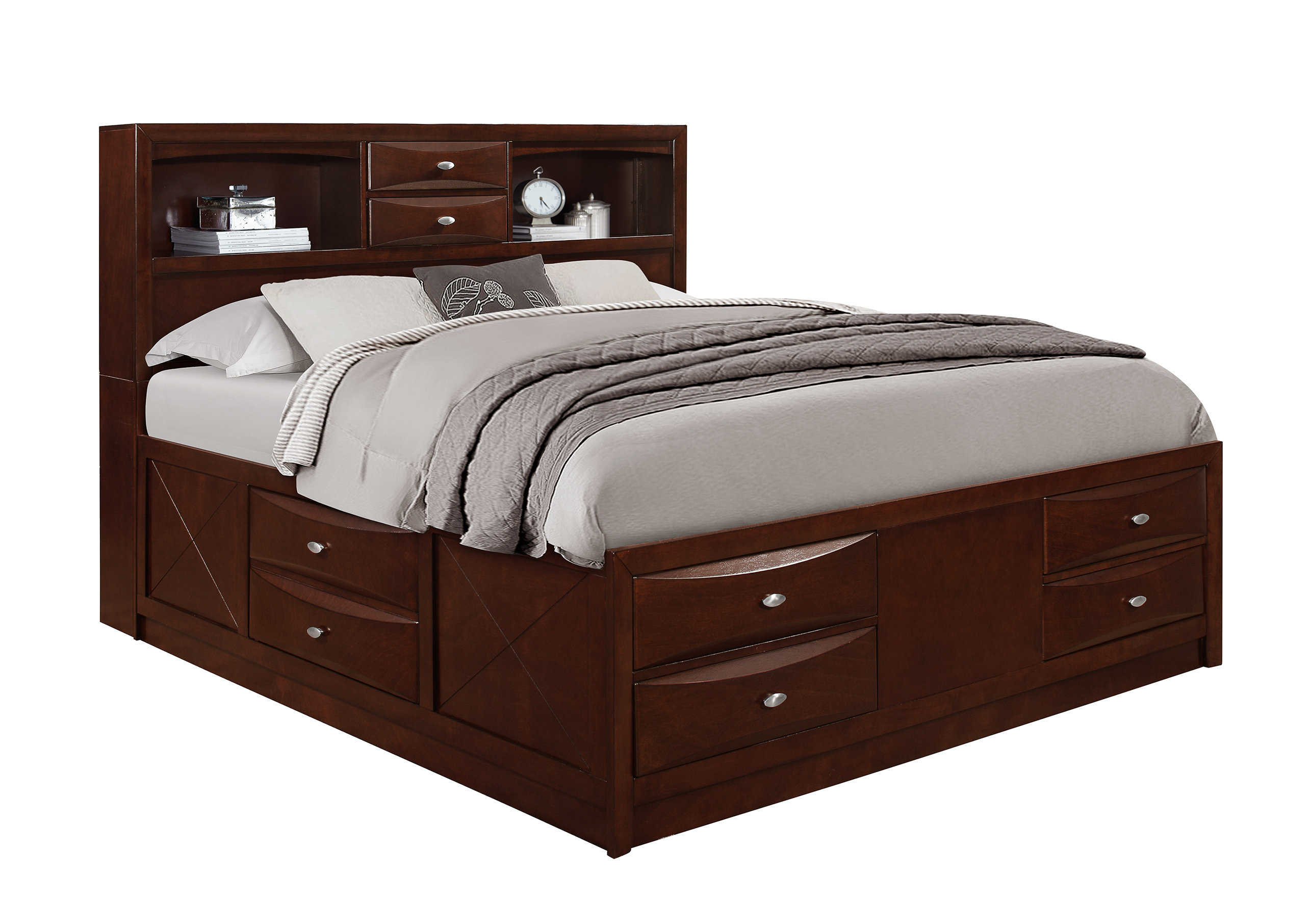 Bed with storage space save GBGIACK