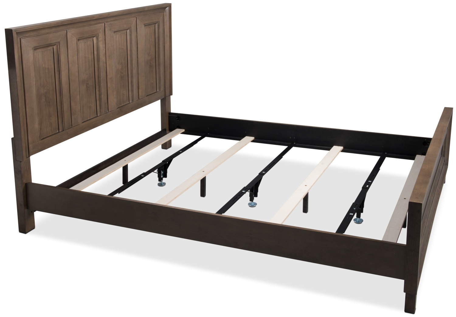 Bed frame Deluxe Full / Queen / King metal rails - set of 3 YRZAGDR
