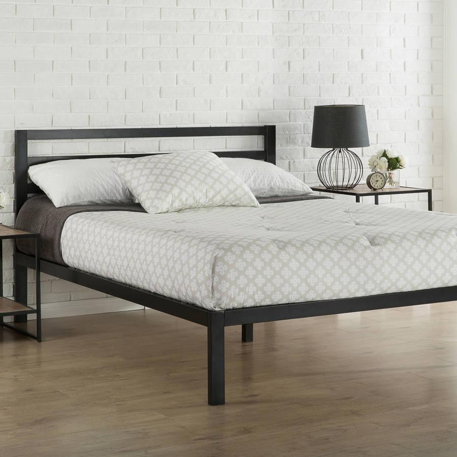 Bed frame zinus platform 3000 metal bed frame with headboard - walmart.com JLQSBDF