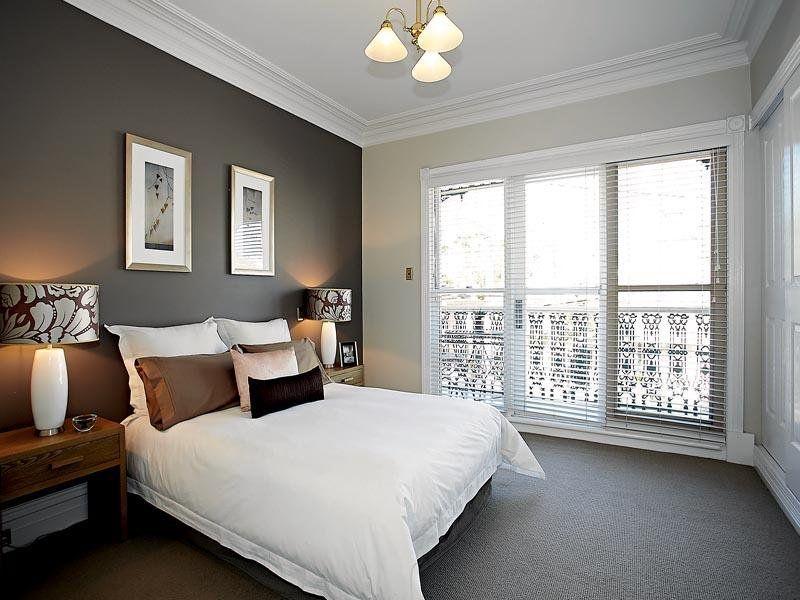 Bedroom rug Bedroom inspiration: dark wall that matches dark rug SVXUVRD