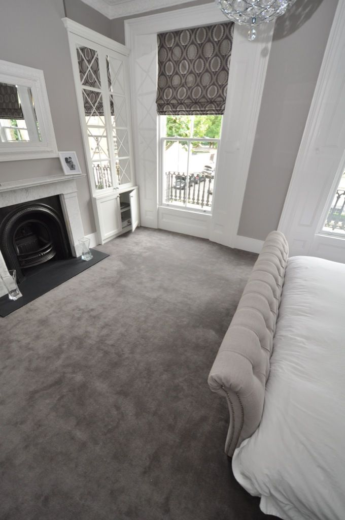 Bedroom carpet elegant cream and gray bedroom.  Bowloom Ltd.  HJZMVNL