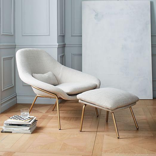 Bedroom chairs elegant bedroom chair Rowan ottoman |  West Elm NYJKMYK