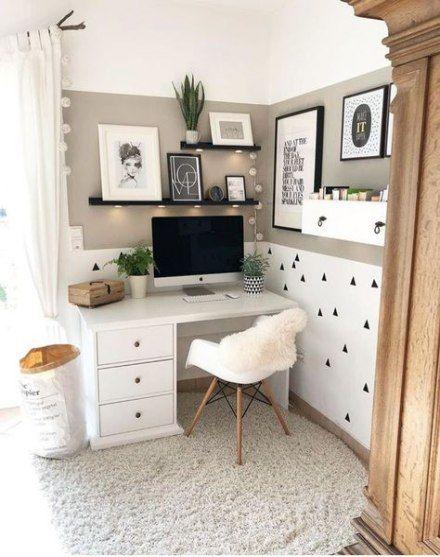 Trendy bedroom ideas off-white desks 34 ideas    Home office.