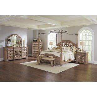 Bedroom furniture sets George Canopy configurable bedroom set UFKMYGW