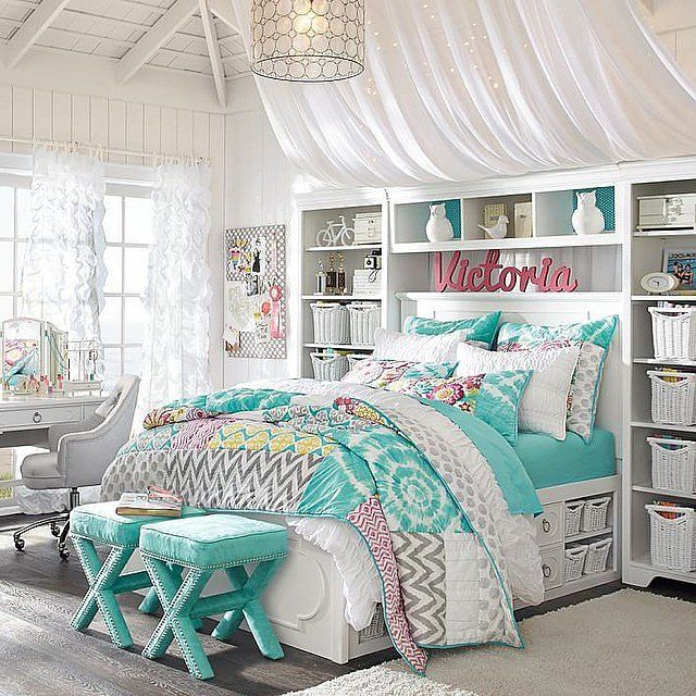 Bedroom ideas for girls find a way to organize all of the things that come with IYUNGBQ