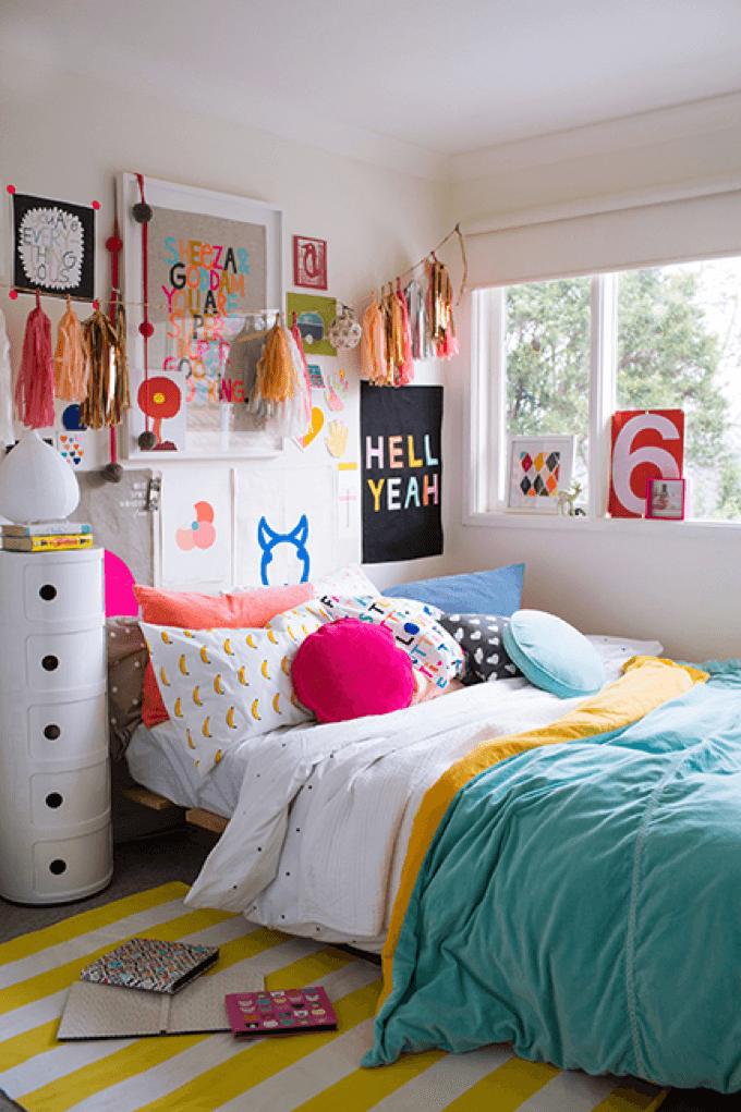 Bedroom ideas for teenage girls colorful teen girlu0027s bedroom NMYUFPD