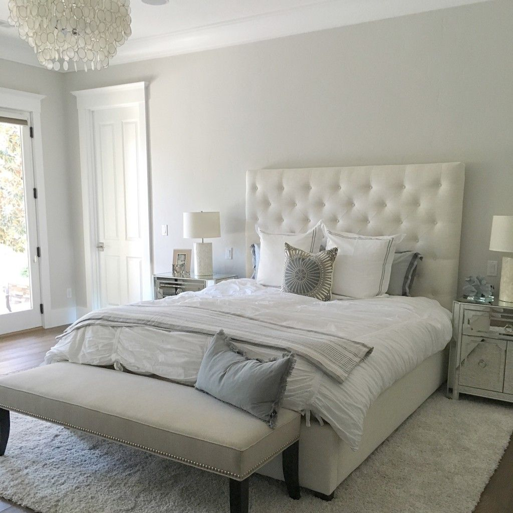 bedroom lacquer colors lacquer color is silver drops from behr.  beautiful light warm gray.  breathtaking.  MFMNZPR