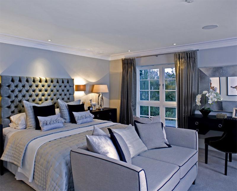 Bedroom sofa bedroom blue turquoise ceiling speakers lights sofa GYCOIKV