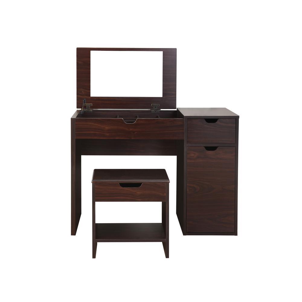 Bedroom washbasin Klee 2-part espresso washbasin with stool NPBQXFW