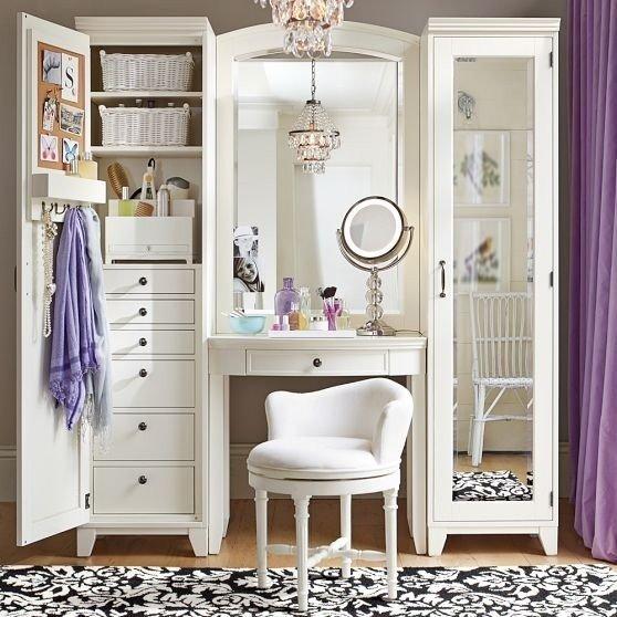 Bedroom vanity with storage space QMJLFIQ