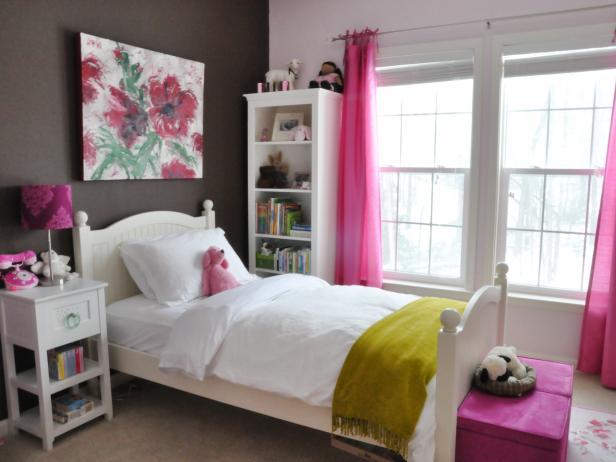 Bedroom for girls nursery ideas    hgtv GIYSJNO