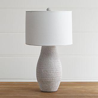 Bedside lamp tube white table lamp HUDBGZI