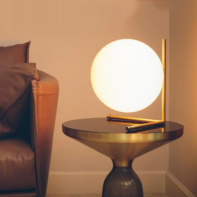 Bedside lamps minimalist art decor ball table lamp geometry abstract design well-kept bedroom EYIRBWM