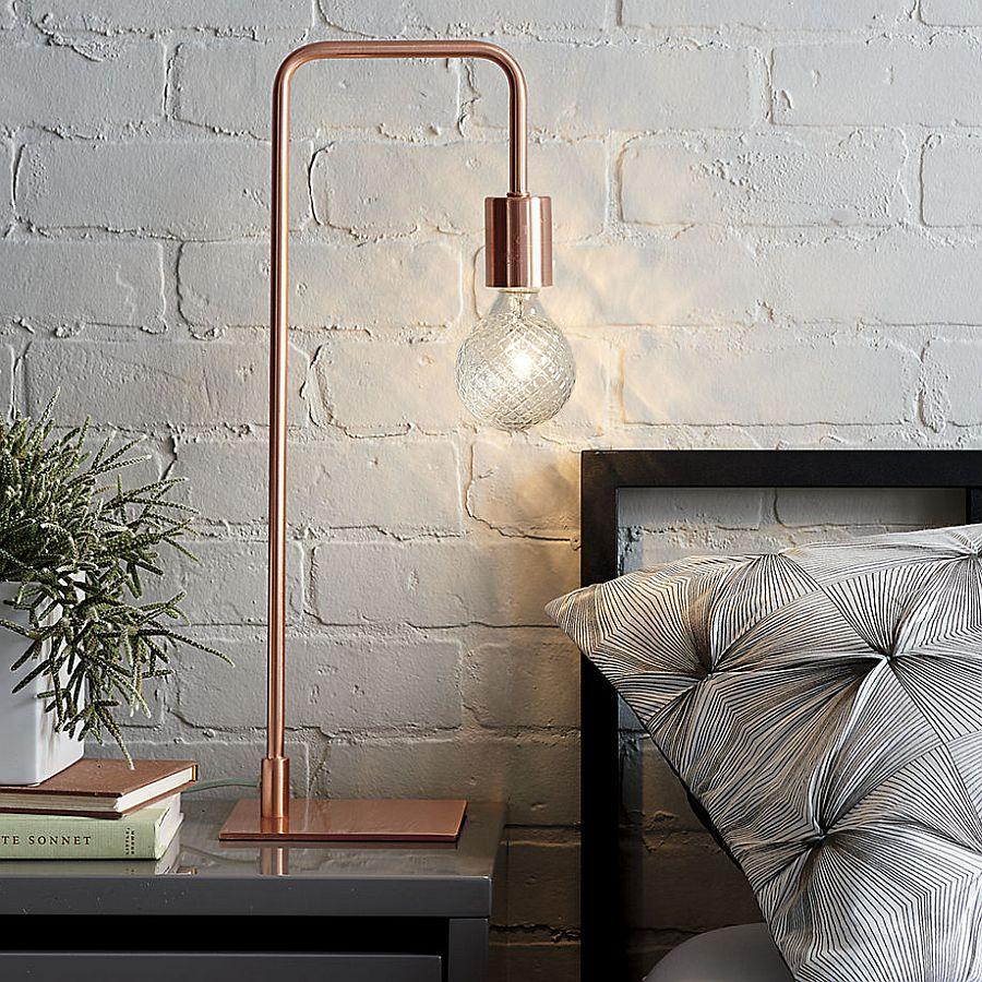 View bedside lamps in gallery cb2's fabulous copper table is a hot seasonal CVTDYLK