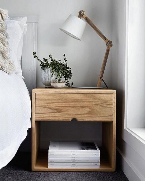 Bedside tables American oak bedside table - Scandinavian style - the local project VINYIFW