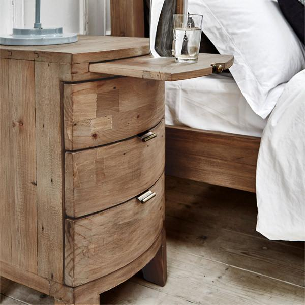 Bedside tables architecture solid wood bedside table regained fashionable living for rustic FECBSIA