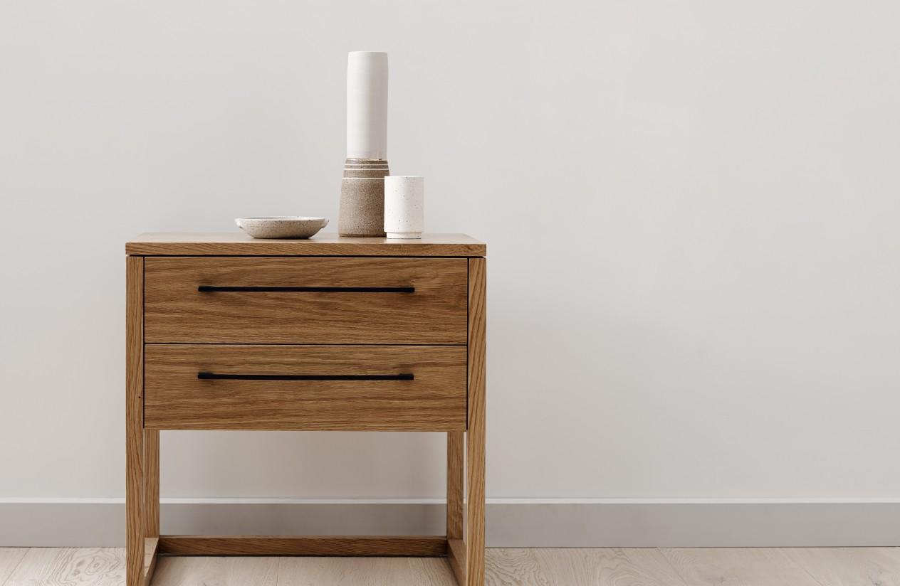 Bedside tables oxley side table in clear matt stain XOAHFLV