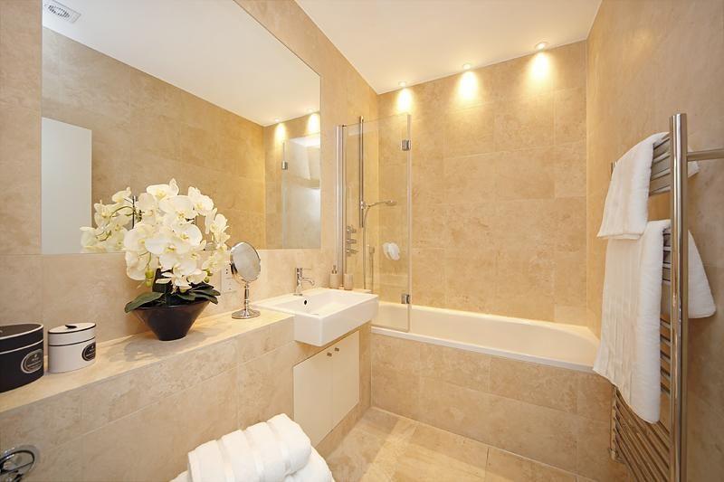 Photo of beige bathroom |  Beige bathroom, beige marble bathroom.