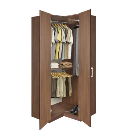 bella corner wardrobe - corner cupboard with three clothes rails QNXEPAD
