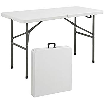 best choice products folding table portable plastic indoor outdoor picnic party BFOPEKV