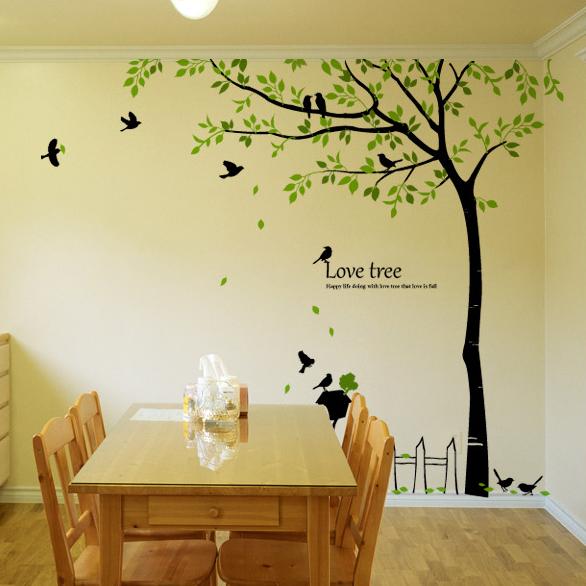 Birds & Love Tree Wall Decals for Children's Rooms MVJQSTM